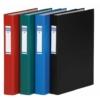 Kép 1/8 - Gyűrűs könyv, 2 gyűrű, 40 mm, A4, PP/karton, DONAU, fekete