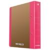 """Kép 1/8 - Gyűrűs könyv, 2 gyűrű, D alakú, 50 mm, A4, karton, DONAU """"Life"""", neon rózsaszín"""