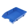 """Kép 1/8 - Irattálca, műanyag, törhetetlen, DONAU """"Solid"""", kék"""