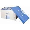 Kép 1/8 - Archiváló konténer, levehető tető, 545x363x317 mm, karton, DONAU, kék-fehér
