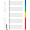 Kép 1/8 - Regiszter, műanyag, A4, 5 részes, DONAU, színes