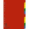 Kép 1/8 - Regiszter, műanyag, A4, 1-10, DONAU, színes