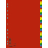 Kép 1/8 - Regiszter, műanyag, A4, 1-31, DONAU, színes