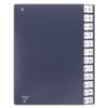 Kép 1/8 - Előrendező, A4, A-Z, karton, DONAU, sötétkék