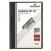 """Kép 1/8 - Gyorsfűző, klipes, A4, DURABLE """"DURACLIP® 30"""", fekete"""