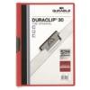 """Kép 1/8 - Gyorsfűző, klipes, A4, DURABLE """"DURACLIP® 30"""", piros"""