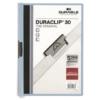 """Kép 1/8 - Gyorsfűző, klipes, A4, DURABLE """"DURACLIP® 30"""", kék"""