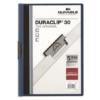 """Kép 1/8 - Gyorsfűző, klipes, A4, DURABLE """"DURACLIP® 30"""", sötétkék"""