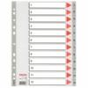Kép 1/8 - Regiszter, műanyag, A4, 1-12, ESSELTE, szürke