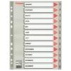 Kép 1/8 - Regiszter, műanyag, A4, Jan-Dec, ESSELTE, szürke