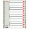 Kép 1/8 - Regiszter, műanyag, A4 Maxi, 1-12, ESSELTE, szürke