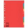 """Kép 1/8 - Regiszter, karton, A4, 10 részes, ESSELTE """"Economy"""", színes"""