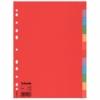 """Kép 1/8 - Regiszter, karton, A4, 12 részes, ESSELTE """"Economy"""", színes"""