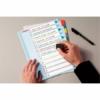 Kép 3/8 - Regiszter, laminált karton, A4 Maxi, 1-10, újraírható, ESSELTE
