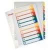 Kép 1/8 - Regiszter, műanyag, A4 Maxi, 1-10, nyomtatható, ESSELTE, áttetsző