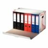 """Kép 2/8 - Archiváló konténer, karton, előre nyíló, iratrendezőnek, ESSELTE """"Standard"""", fehér"""