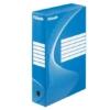 """Kép 1/8 - Archiváló doboz, A4, 80 mm, karton, ESSELTE """"Boxycolor"""", kék"""