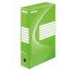 """Kép 1/8 - Archiváló doboz, A4, 80 mm, karton, ESSELTE """"Boxycolor"""", zöld"""