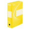 """Kép 1/8 - Archiváló doboz, A4, 100 mm, karton, ESSELTE """"Boxycolor"""", sárga"""