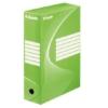 """Kép 1/8 - Archiváló doboz, A4, 100 mm, karton, ESSELTE """"Boxycolor"""", zöld"""