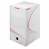 """Kép 1/8 - Archiváló doboz, A4, 200 mm, karton, ESSELTE """"Boxy"""", fehér"""