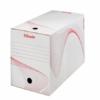 """Kép 2/8 - Archiváló doboz, A4, 200 mm, karton, ESSELTE """"Boxy"""", fehér"""
