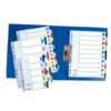 Kép 2/8 - Regiszter, műanyag, A4, 6 részes, ESSELTE