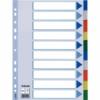 Kép 1/8 - Regiszter, műanyag, A4, 10 részes, ESSELTE