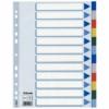 Kép 1/8 - Regiszter, műanyag, A4, 12 részes, ESSELTE