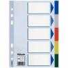 Kép 1/8 - Regiszter, műanyag, A5, 5 részes, ESSELTE, színes
