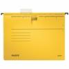 """Kép 1/8 - Függőmappa, gyorsfűzős, karton, A4, LEITZ """"Alpha"""", sárga"""