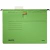 """Kép 1/8 - Függőmappa, gyorsfűzős, karton, A4, LEITZ """"Alpha"""", zöld"""