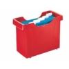 """Kép 1/8 - Függőmappa tároló, műanyag, 5 db függőmappával, LEITZ """"Plus"""", piros"""