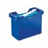"""Kép 1/8 - Függőmappa tároló, műanyag, 5 db függőmappával, LEITZ """"Plus"""", kék"""