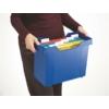 """Kép 4/8 - Függőmappa tároló, műanyag, 5 db függőmappával, LEITZ """"Plus"""", kék"""