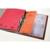 Kép 2/8 - Gyorsfűző, karton, fémszerkezettel, A4 feles, LEITZ, piros