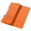 Kép 1/8 - Gyorsfűző, karton, fémszerkezettel, A4 feles, LEITZ, narancssárga