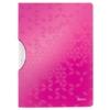 """Kép 1/8 - Gyorsfűző, klipes, PP, A4, LEITZ """"Wow ColorClip"""" rózsaszín"""