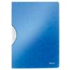 """Kép 1/8 - Gyorsfűző, klipes, PP, A4, LEITZ """"Wow ColorClip"""" kék"""