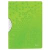 """Kép 1/8 - Gyorsfűző, klipes, PP, A4, LEITZ """"Wow ColorClip"""", zöld"""