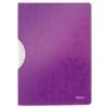 """Kép 1/8 - Gyorsfűző, klipes, PP, A4, LEITZ """"Wow ColorClip"""" lila"""