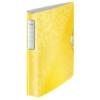 """Kép 1/8 - Gyűrűs könyv, 4 gyűrű, D alakú, 52 mm, A4, PP, LEITZ """"Active Wow"""", sárga"""