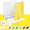 """Kép 2/8 - Gyűrűs könyv, 4 gyűrű, D alakú, 52 mm, A4, PP, LEITZ """"Active Wow"""", sárga"""