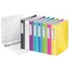 """Kép 5/8 - Gyűrűs könyv, 4 gyűrű, D alakú, 52 mm, A4, PP, LEITZ """"Active Wow"""", sárga"""