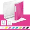 """Kép 2/8 - Gyűrűs könyv, 4 gyűrű, D alakú, 52 mm, A4, PP, LEITZ """"Active Wow"""" rózsaszín"""