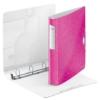 """Kép 3/8 - Gyűrűs könyv, 4 gyűrű, D alakú, 52 mm, A4, PP, LEITZ """"Active Wow"""" rózsaszín"""