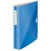 """Kép 1/8 - Gyűrűs könyv, 4 gyűrű, D alakú, 52 mm, A4, PP, LEITZ """"Active Wow"""" kék"""