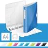 """Kép 2/8 - Gyűrűs könyv, 4 gyűrű, D alakú, 52 mm, A4, PP, LEITZ """"Active Wow"""" kék"""