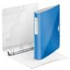 """Kép 3/8 - Gyűrűs könyv, 4 gyűrű, D alakú, 52 mm, A4, PP, LEITZ """"Active Wow"""" kék"""