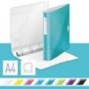 """Kép 2/8 - Gyűrűs könyv, 4 gyűrű, D alakú, 52 mm, A4, PP, LEITZ """"Active Wow"""" jégkék"""